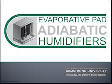 Evaporative Pad Adiabatic Humidifiers