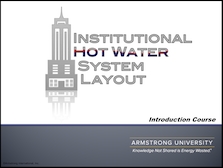 Institutional Hot Water Systems - Introduction