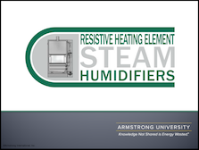 Resistive Heating Element Steam Humidifiers