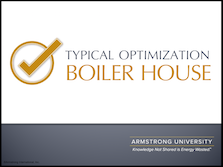 Typical Optimizations in a Boiler House
