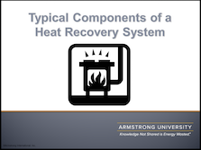 Typical Components of a Heat Recovery System