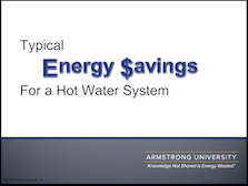 Typical Energy Savings in Hot Water Systems