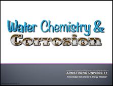Water Chemistry and Corrosion