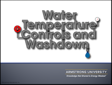 Industrial Water Temperature Controls & Washdown