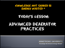 Deaerator Practices Advanced