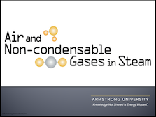 Air and Non-condensable Gases in Steam
