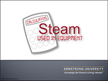Calculating Steam Used in Equipment