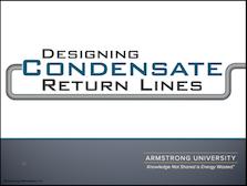 Designing Condensate Return Lines