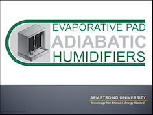 Evaporative Pad Adiabatic Humidifiers