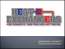Heat Exchangers for Domestic and Process Hot Water