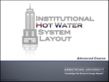 Institutional Hot Water Systems - Advanced