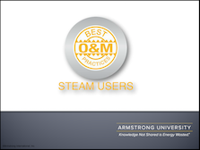 O&M Best Practices for Steam Users
