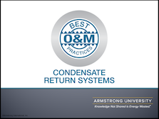 O&M Best Practices for Condensate Return Systems