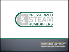 Pressurized Steam Humidifiers