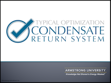Typical Condensate Return System Optimizations