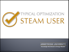 Typical Optimizations on a Steam User